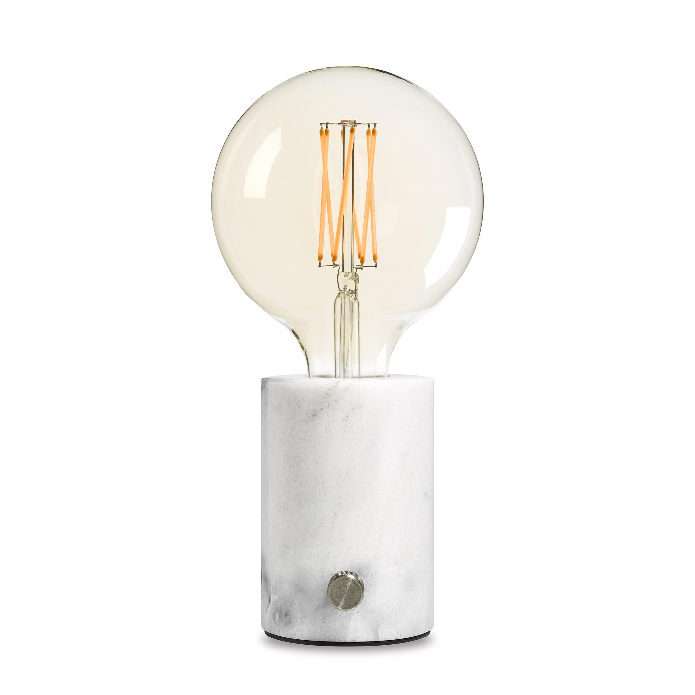 lampe moderne en marbre blanc