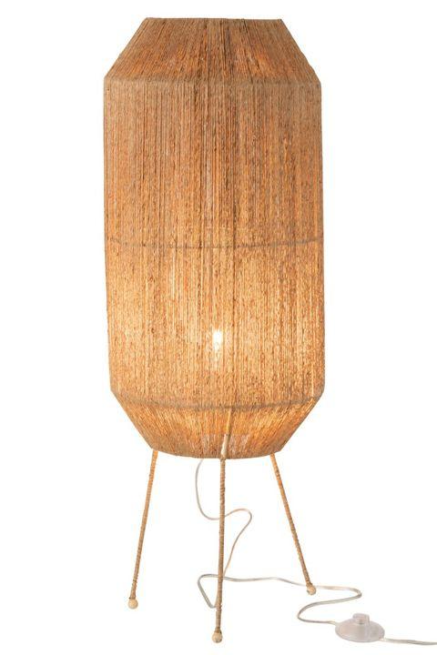lampe sur pieds en corde couleur narturelle