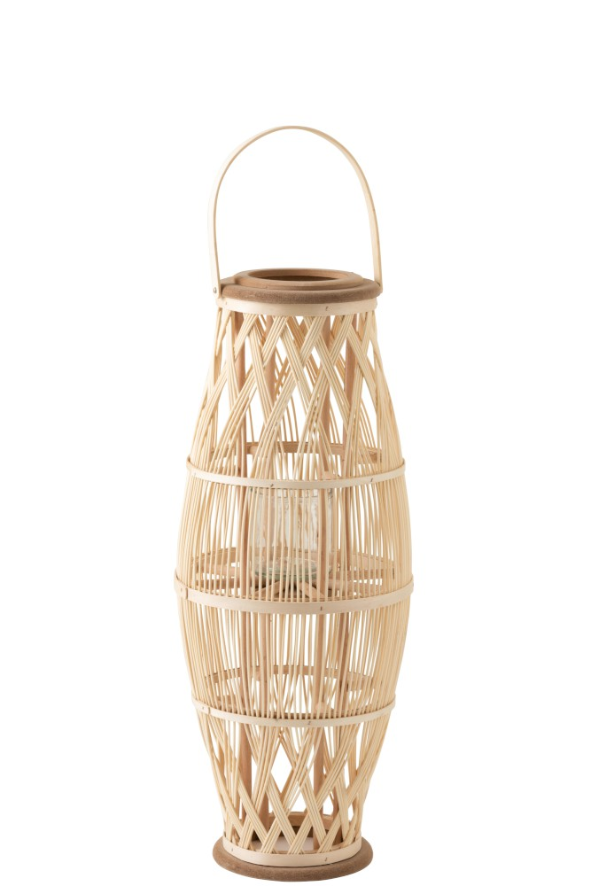 lanterne en bois de couleur naturelle claire