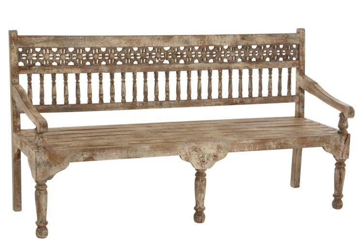 banc en bois de style marocain
