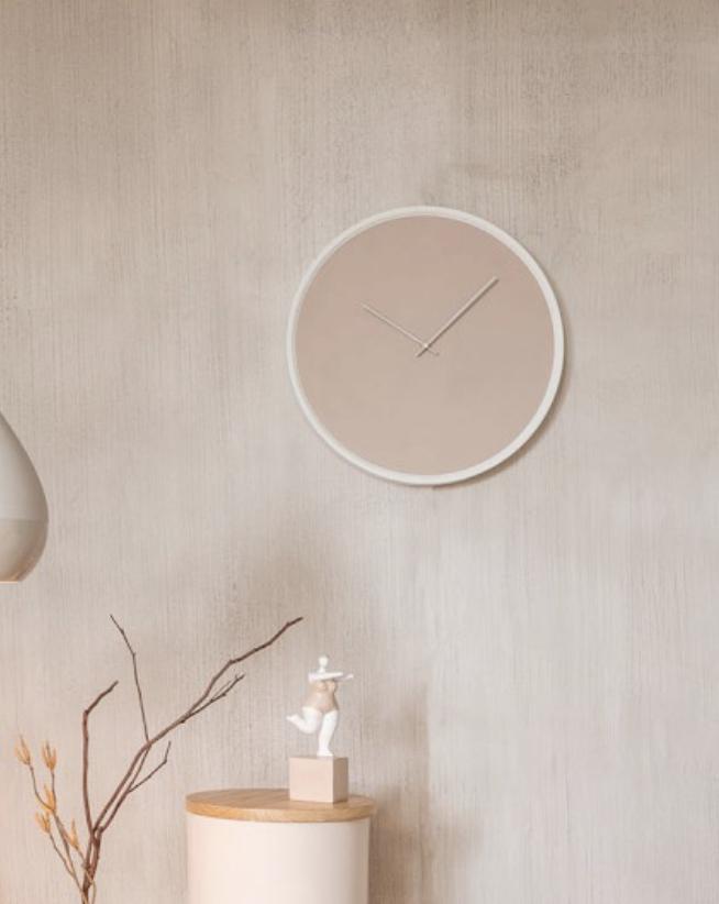 horloge style scandinave beige