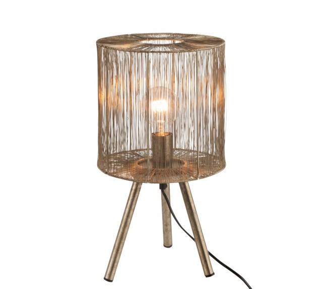 lampe de table en métal doré