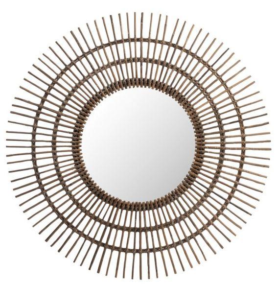 miroir en bois couleur et aspect naturel