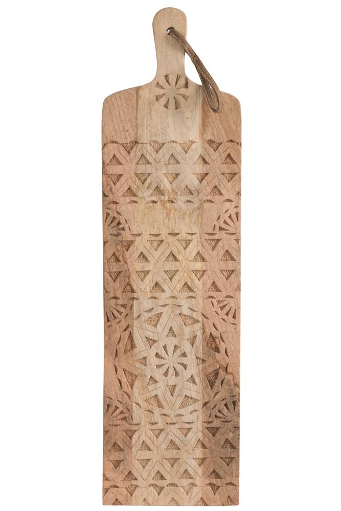 planche en bois naturel de style ethnique
