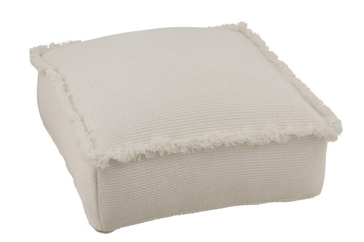 coussin de sol de terrasse blanc