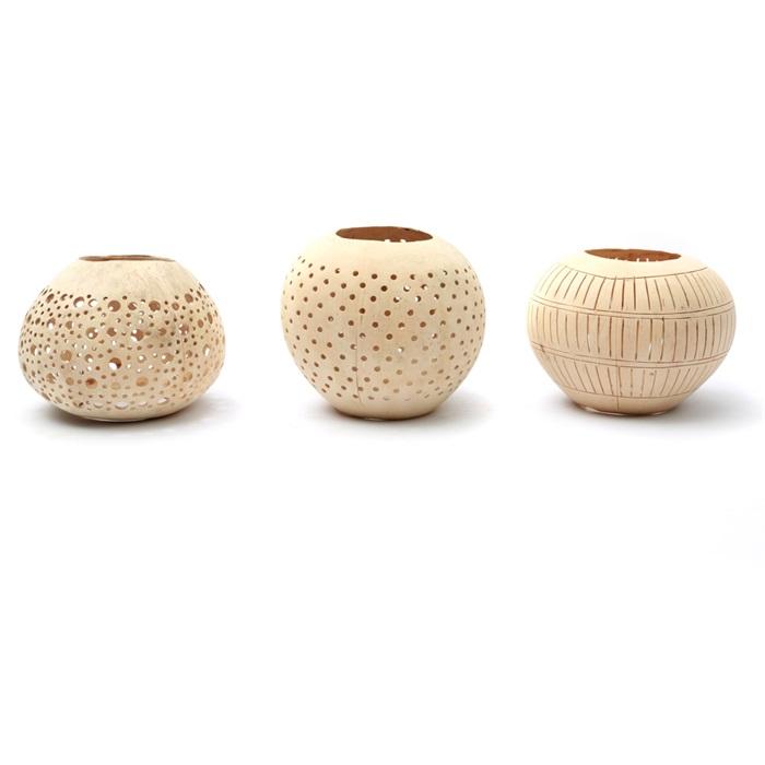 photophore en noix de coco