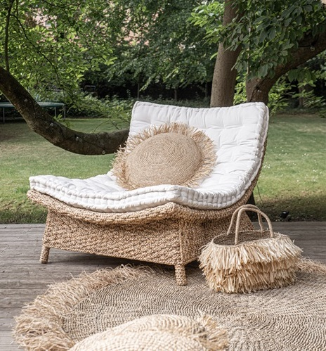 chaise lounge en jacinthe d'eau