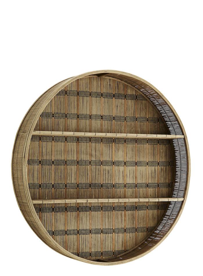 étagère mural ronde en bois