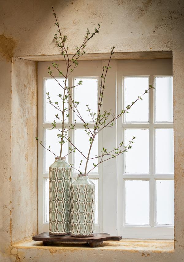 vase vert de gris