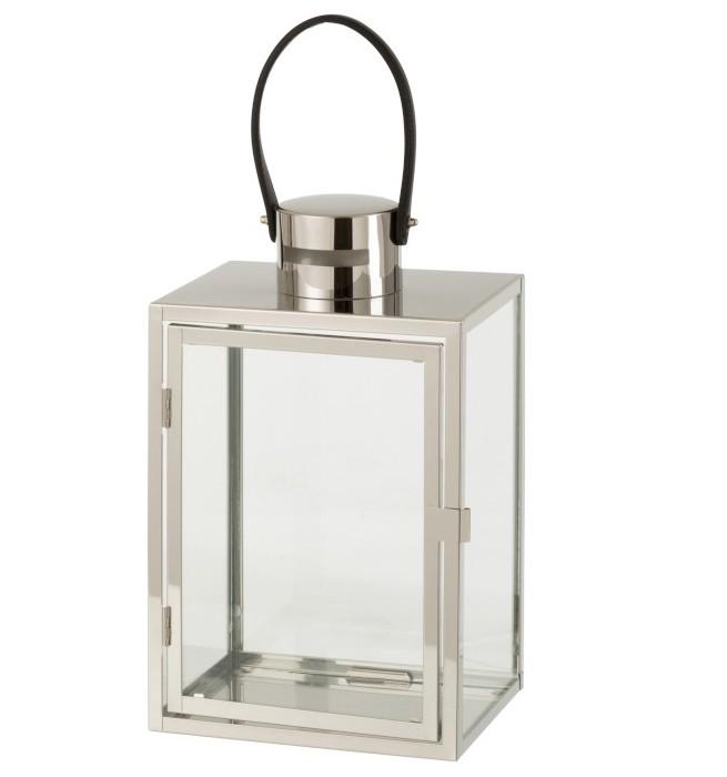 lanterne métal argenté