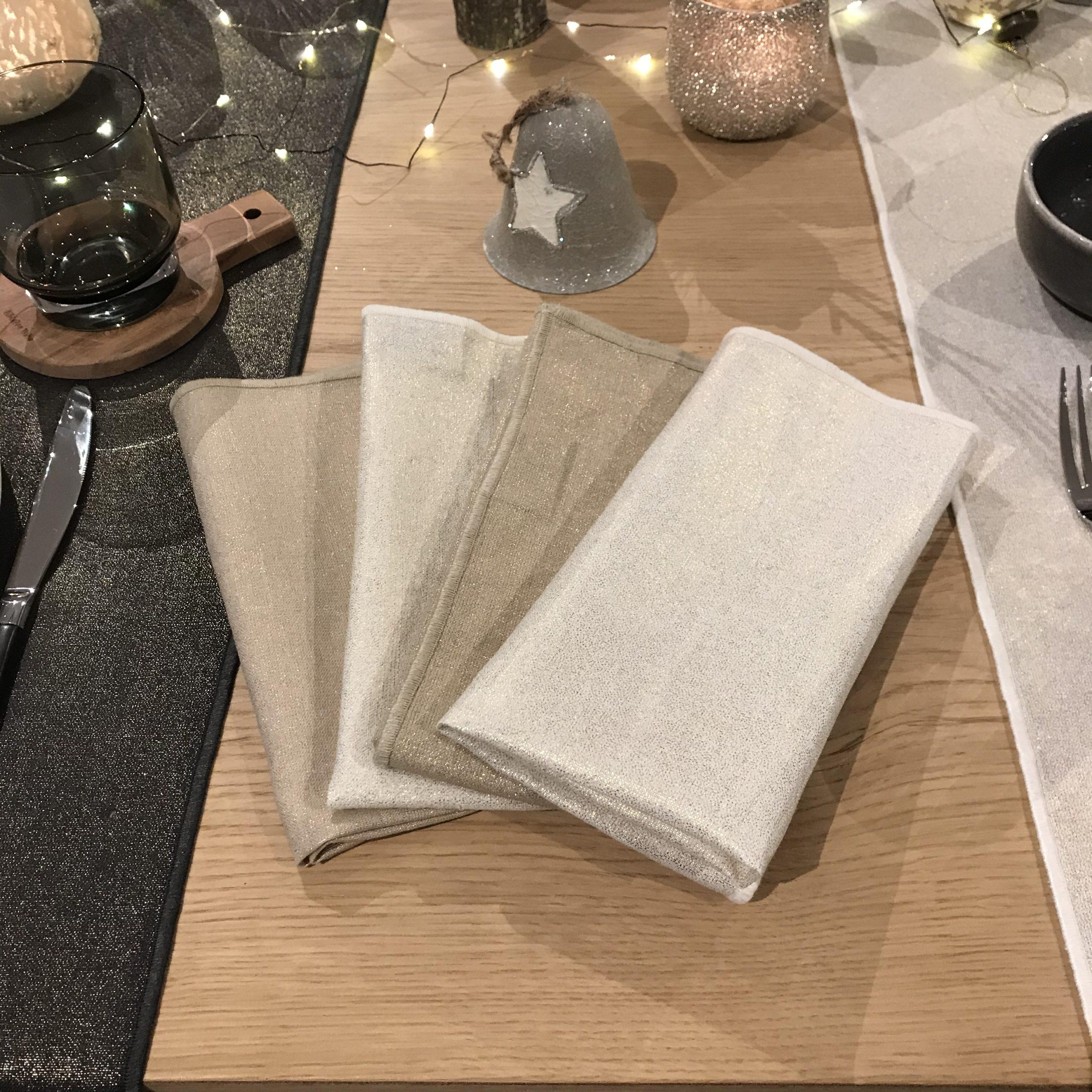 serviette lin et coton