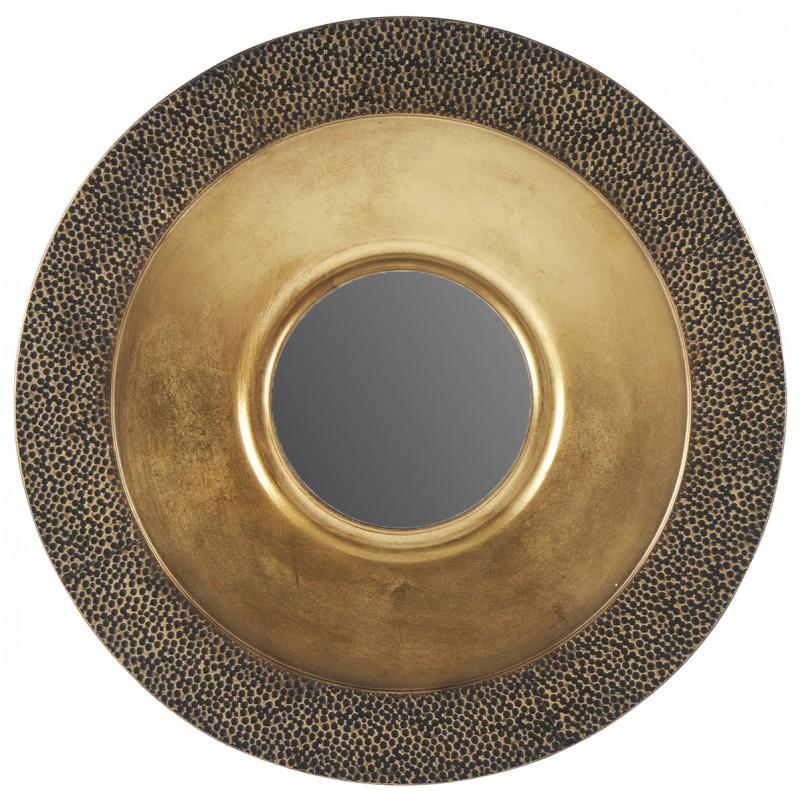 miroir doré martelé